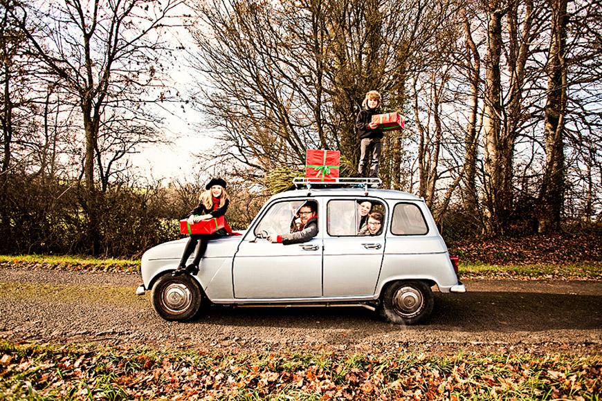 Silke von Rolbiezki Coiffure Christmas Renault 4